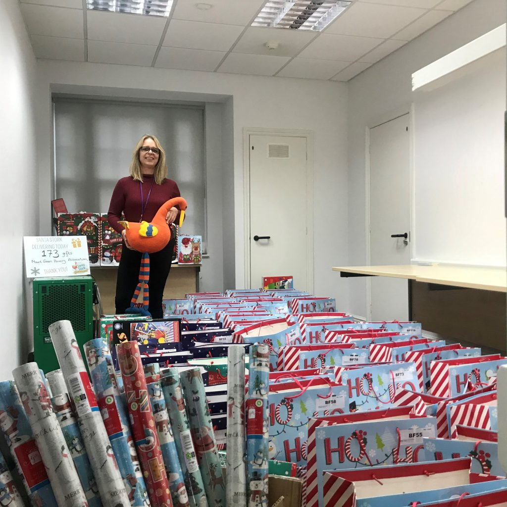 Presents gifted to struggling local families