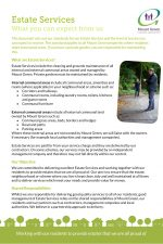 Estate Services Leaflet